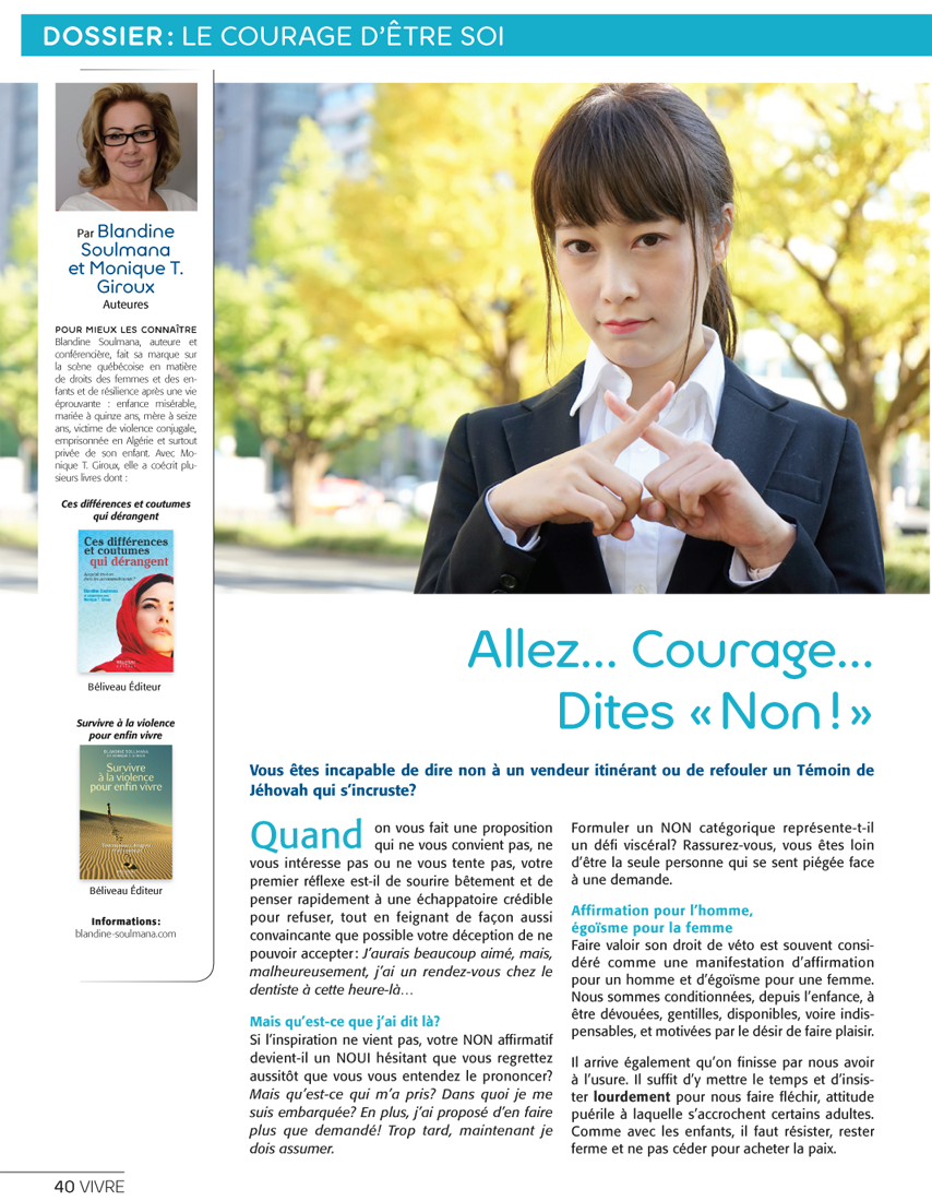 Courage... Dites-non! page 1 / 2
